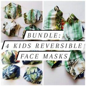 Kid's face mask bundle (inc 4 masks)